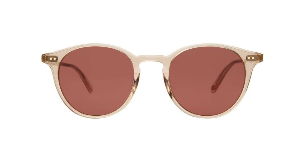 Garrett Leight Sonnenbrille - Modell Clune in Nude Rosewood - Ansicht Front